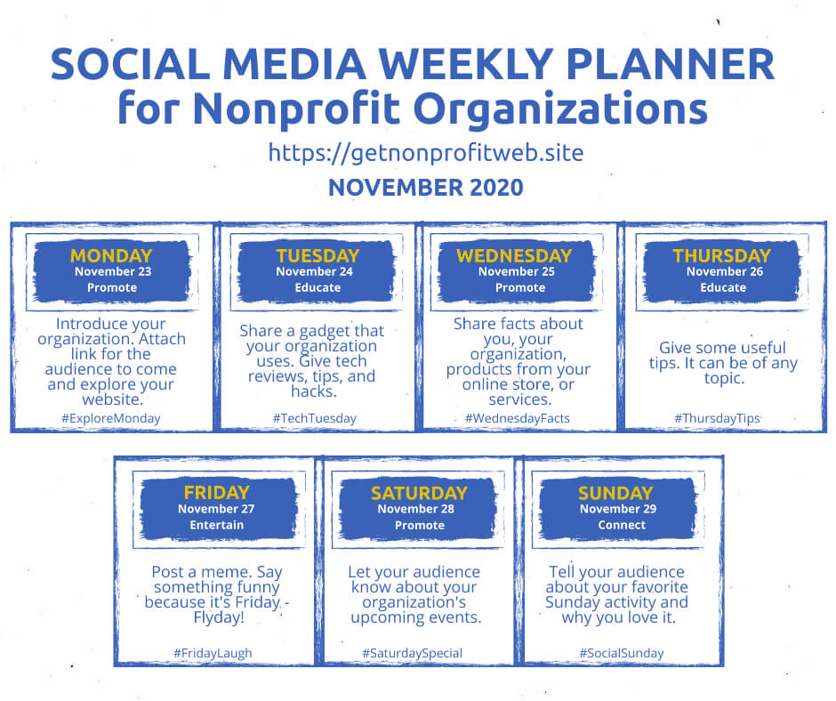 Social Media Planner November 23-29